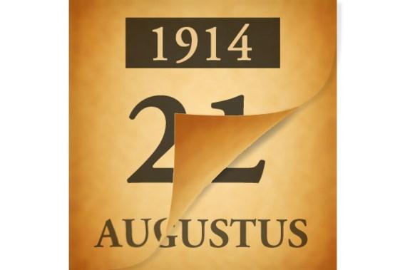 Wat gebeurde er op 22 augustus 1914?