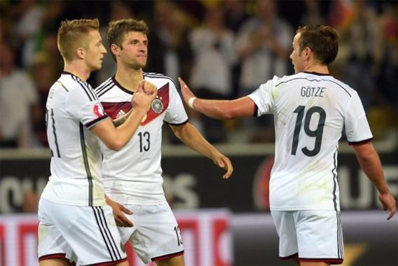 Duitsland wint nipt van Schotland, Portugal blameert zich tegen Albanië