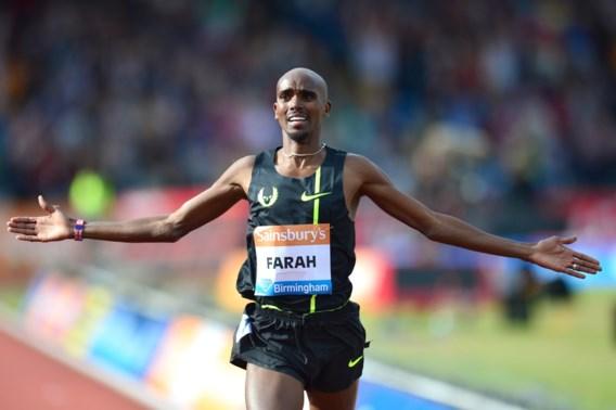 Mo Farah snelt naar zege in Great North Run