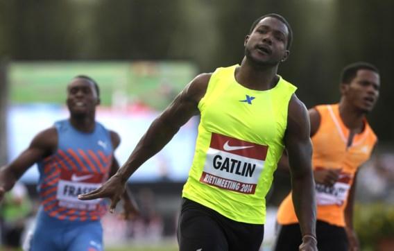 Gatlin ook in Rieti de beste op de 100 meter