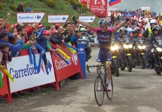 Laatste overlevende vroege vlucht wint op legendarische col, Contador verliest kostbare seconden