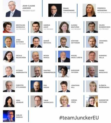 Juncker stelt nieuwe Europese Commissie voor