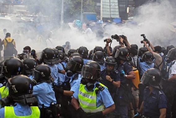 Politie treedt hardhandig op in Hongkong