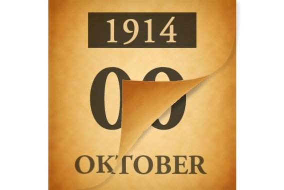 Wat gebeurde er op 10 oktober 1914?