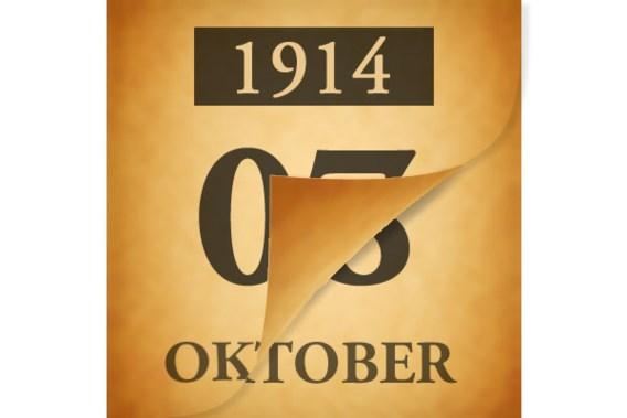 Wat gebeurde er op 8 oktober 1914?