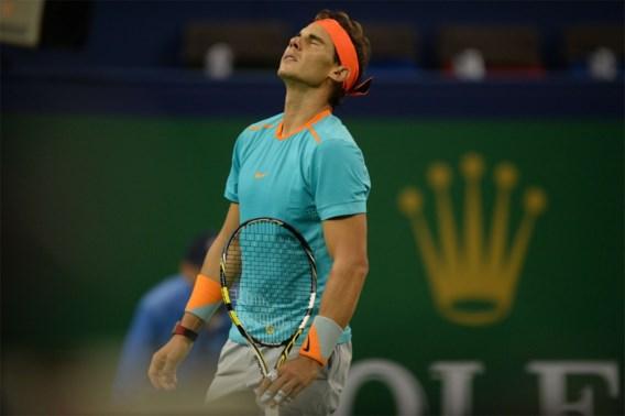 Rafael Nadal meteen verrassend onderuit in Shanghai