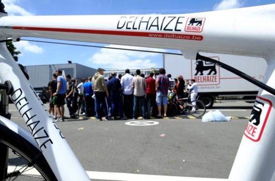 Actie in distributiecentrum Delhaize in Zellik