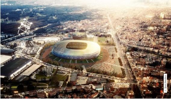 Het nieuwe stadion op de Heizel, zoals het er in 2020 moet uitzien.
