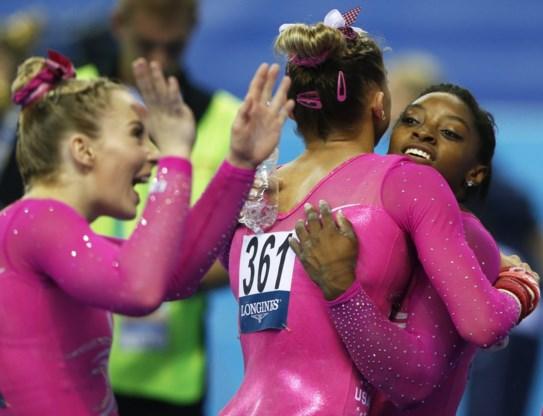 Amerikaanse turnvrouwen winnen WK-goud