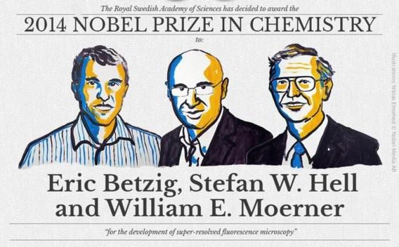 Nobelprijs Chemie gaat naar trio voor ontwikkeling superscherpe microscoop