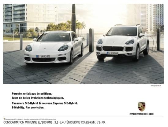 Porsche maakt reclame met knipoog naar De Wever