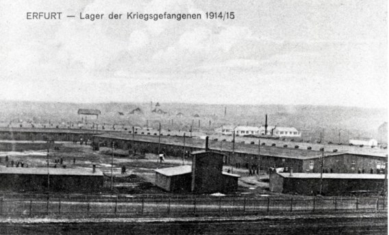 In het kamp van Erfurt zaten 15.000 krijgsgevangenen opgesloten.