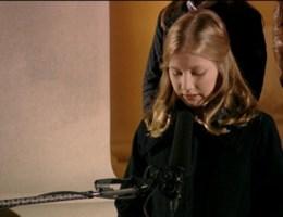 Hoe kroonprinses  Elisabeth (12) haar speech oefende