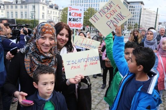 Betoging tegen islamofobie in Brussel