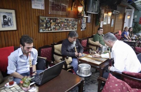 Oud en nieuw in een waterpijpcafé aan de Bosporus in Istanbul.