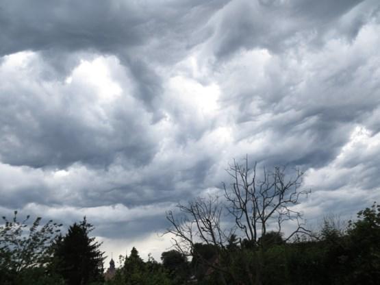 Wolken op woensdag