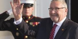 Eerste blank staatshoofd in Afrika sinds apartheid
