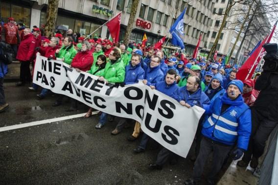 Treinrit naar Brussel goedkoper voor betoger dan voor niet-betoger