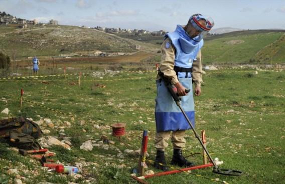 Belgische ontmijner aan het werk in Libanon.