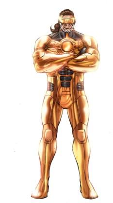 J.Rom (links) ziet eruit als een Amerikaanse stripheld genre Iron Man.