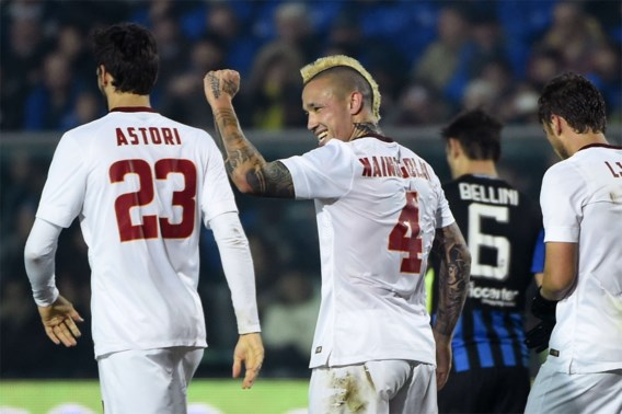SERIE A. Nainggolan bezorgt AS Roma volle buit, Milanese topper onbeslist
