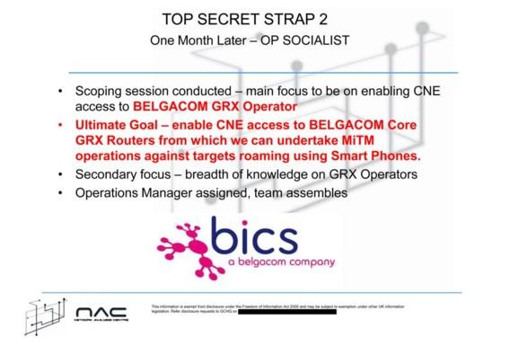 Door in te breken bij Belgacomdochter BICS wilde de Britse geheime dienst communicatie over de hele wereld onderscheppen.