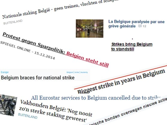 'Protestacties brengen België tot stilstand'