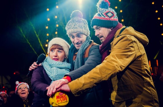 Linde Merckpoel, Sam De Bruyn en Vincent Byloo presenteerden de Warmste Week voor Music for Life.