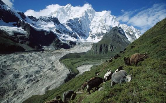 De Kangshung-gletsjer aan de oostwand van de Mount Everest.