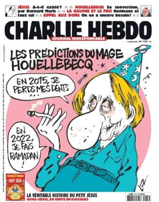 Charlie Hebdo had themanummer over schrijver Houellebecq