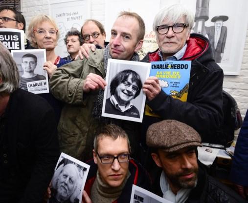 Belgische cartoonisten betuigen steun met minuut stilte