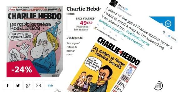 Al bijna 13.000 extra abonnementen op Charlie Hebdo