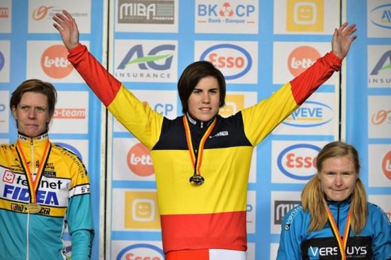 Topfavoriete Sanne Cant is weer Belgisch kampioene