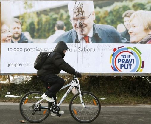 Conservatieve kandidaat Grabar Kitarovic op kop in Kroatië
