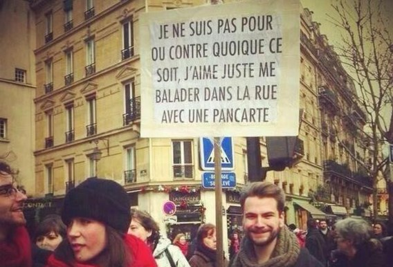Opvallende boodschap tijdens de mars voor vrijheid in Parijs