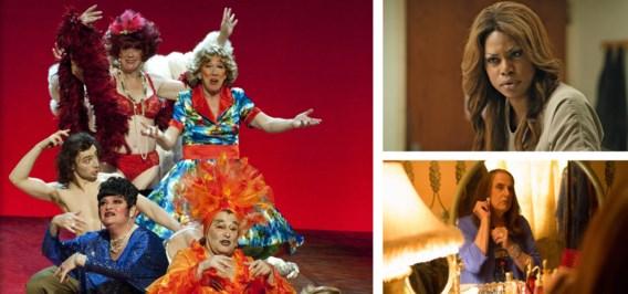 Links: 'Gardenia' toont transgenders op leeftijd die in hun tijd nog veel meer obstakels moesten overwinnen. Rechtsboven: cabaretLaverne Cox in 'Orange is the new black'. Rechtsonder: Jeffrey Tambor in 'Transparent'.