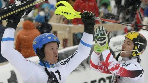 Mattias Hargin is de snelste in slalom Kitzbühel