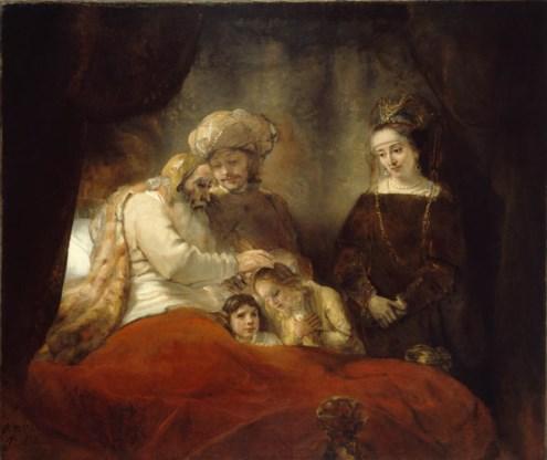 Rembrandt, 'Jacob zegent de zonen van Jozef': tederheid in een familie.