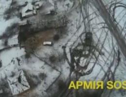 Drone filmt spoor van vernieling in Debaltsevo