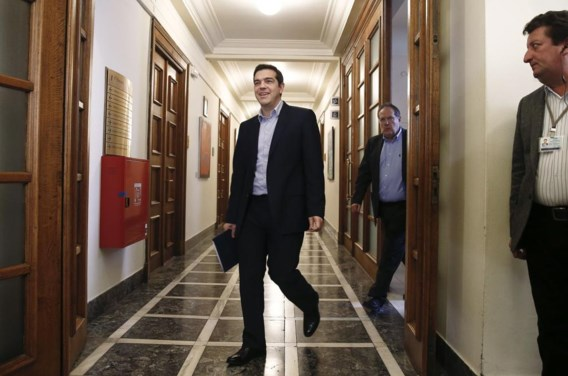 Premier Alexis Tsipras lijkt voorlopig nog op de steun van de Griekse bevolking te kunnen rekenen.