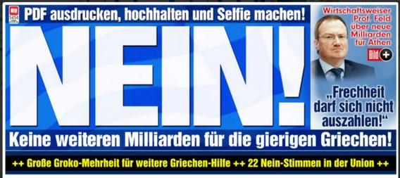 Duits dagblad zegt 'NEIN' tegen steunprogramma voor Griekenland