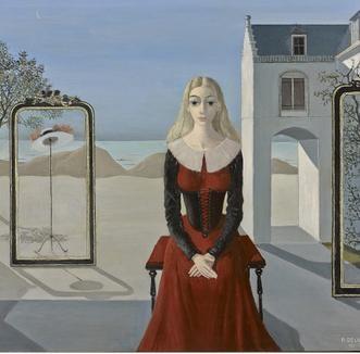 Ontdek de vreemde vrouwen van Paul Delvaux in Madrid.