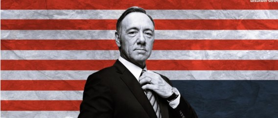 Kevin Spacey in 'House of cards'.