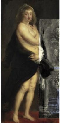 'Het pelsken' van Rubens: later overschilderd.