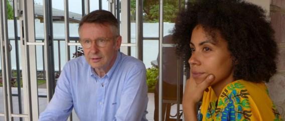 Martin Heylen in Congo met Leki: geen makkie.