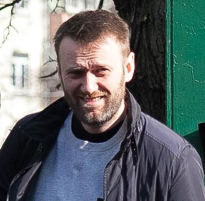 Navalny bij zijn vrijlating.