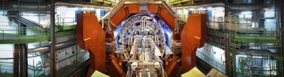 Een van de Cern-detectoren. De grootste deeltjesversneller ter wereld ligt al twee jaar stil.