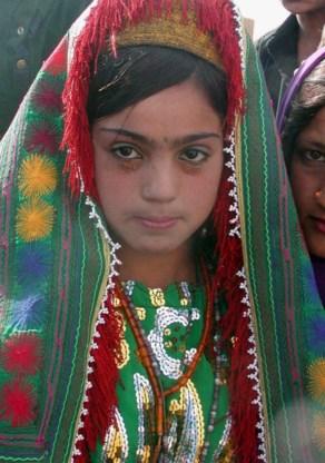 Een twaalf-jarige bruid in Herat, Afghanistan.