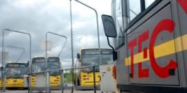 Bijna geen bussen in Luik en Charleroi door vakbondsbetoging