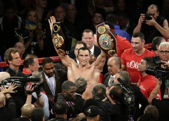 Vladimir Klitschko verdedigt wereldtitels boksen met succes